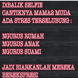 Dp BBM Dibalik Selfie mama muda