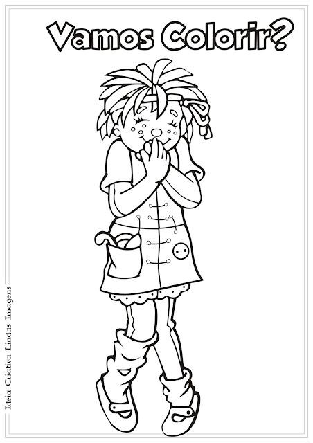 Emília do desenho Sítio do Picapau Amarelo para colorir