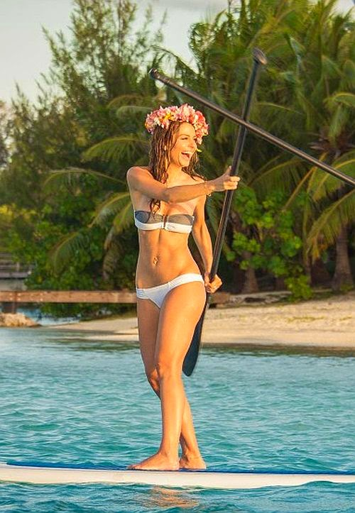 Maria Menounos in Red Bikini in Jamaica – Instagram