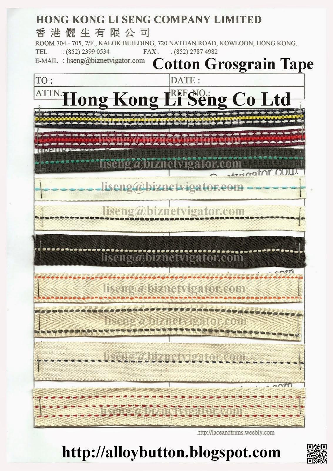 Cotton Grosgrain Tape Manufacturer Wholesaler Supplier - Hong Kong Li Seng Co Ltd