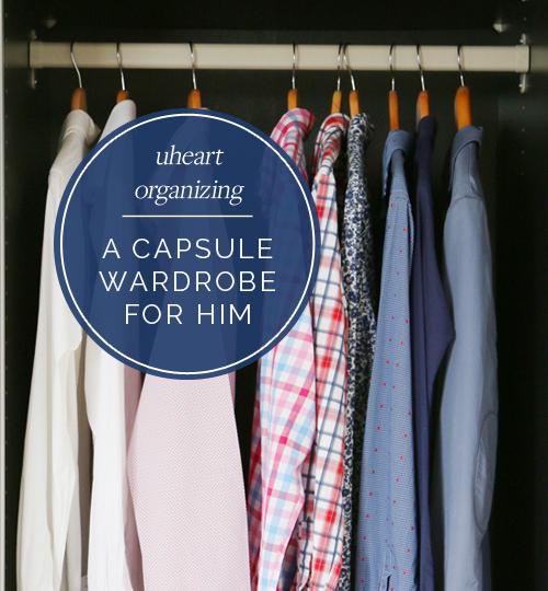 Interchangeable Wardrobe: IHeart Organizing: UHeart Organizing: A Capsule Wardrobe