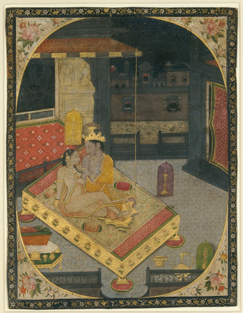 Radha and Krishna on a Bed at Night, c1830