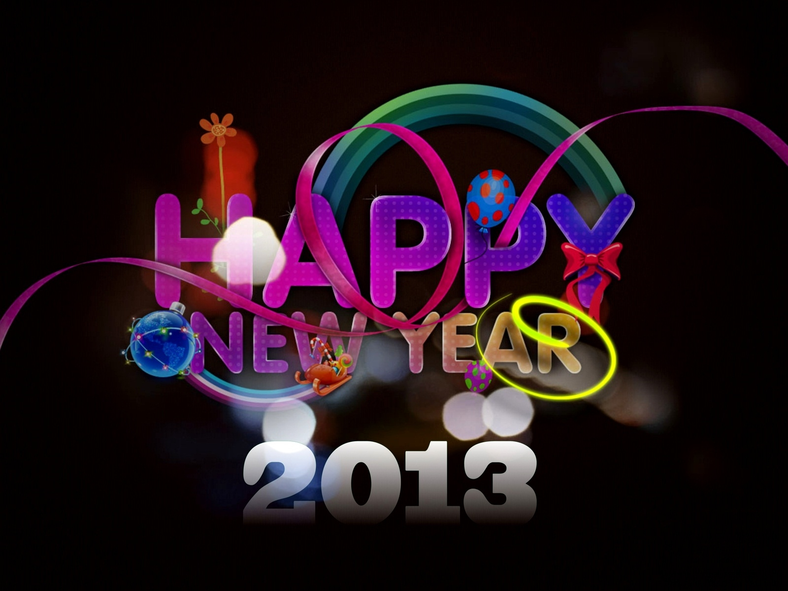 Free New Year HD Wallpapers 2013