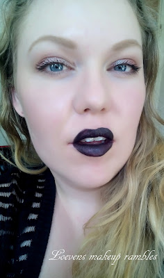 Matte black lips, duochrome eyeshadow