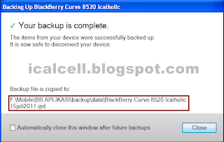 Cara Backup Data Blackberry