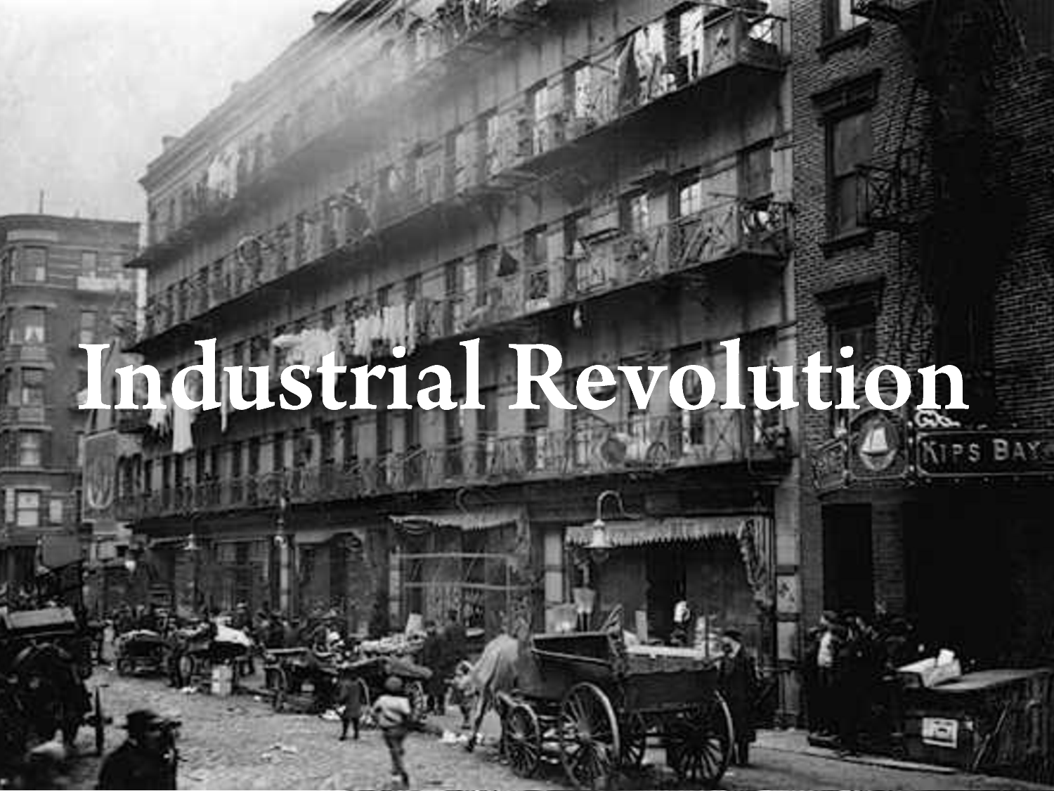 a history of the begining of industrialization and its influence on the world The role of laissez faire: a conservative approach to the industrial revolution in the history of the united states of america.