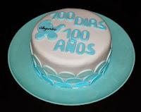 Tarta de Fiesta 100 días de edad