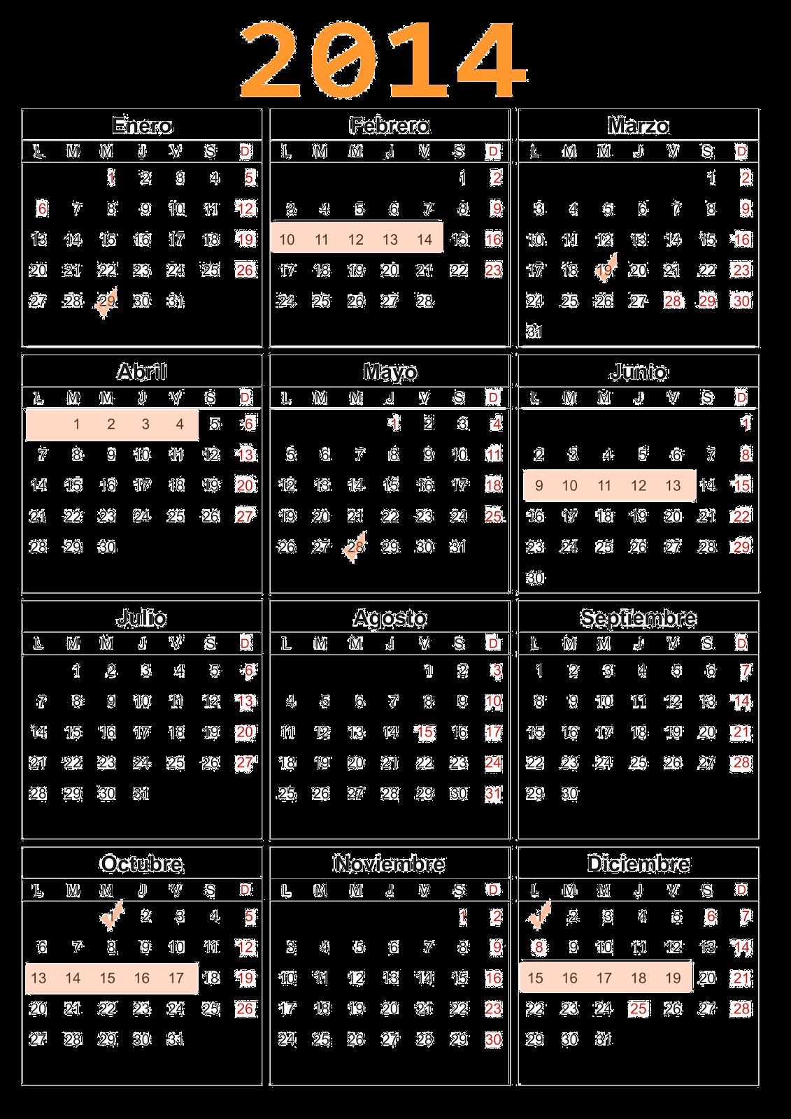 Calendario Exámenes Aula Mentor