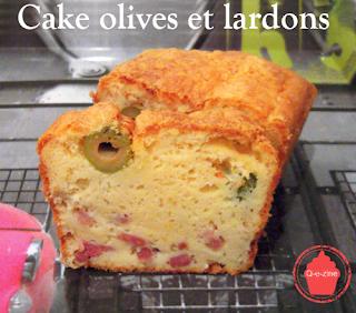 cake olives vertes lardons