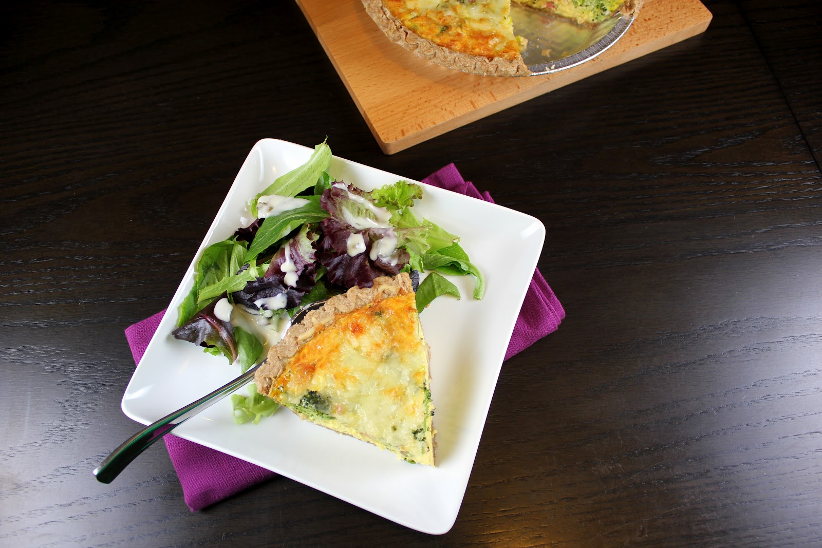 how to know when a quiche is cooked