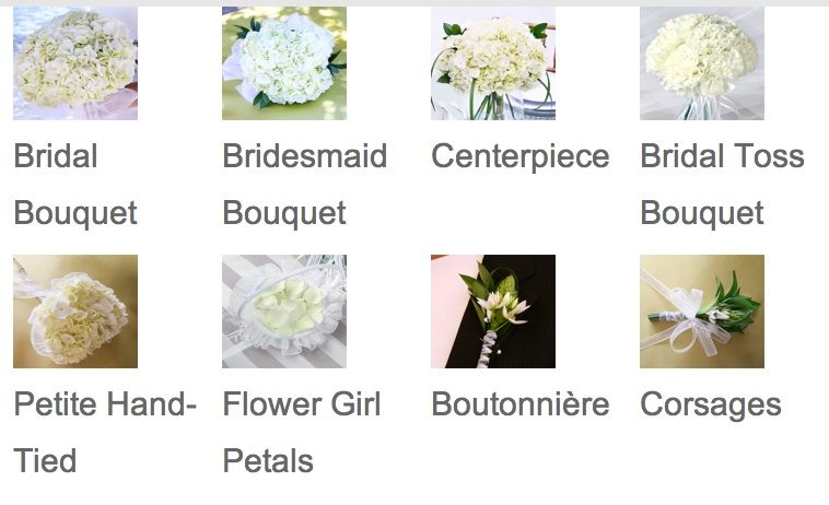 Wedding Bouquets Mail Order : Something white mail order wedding flowers