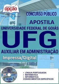 Apostila Impressa UFG-GO - Auxiliar em Administração - PDF