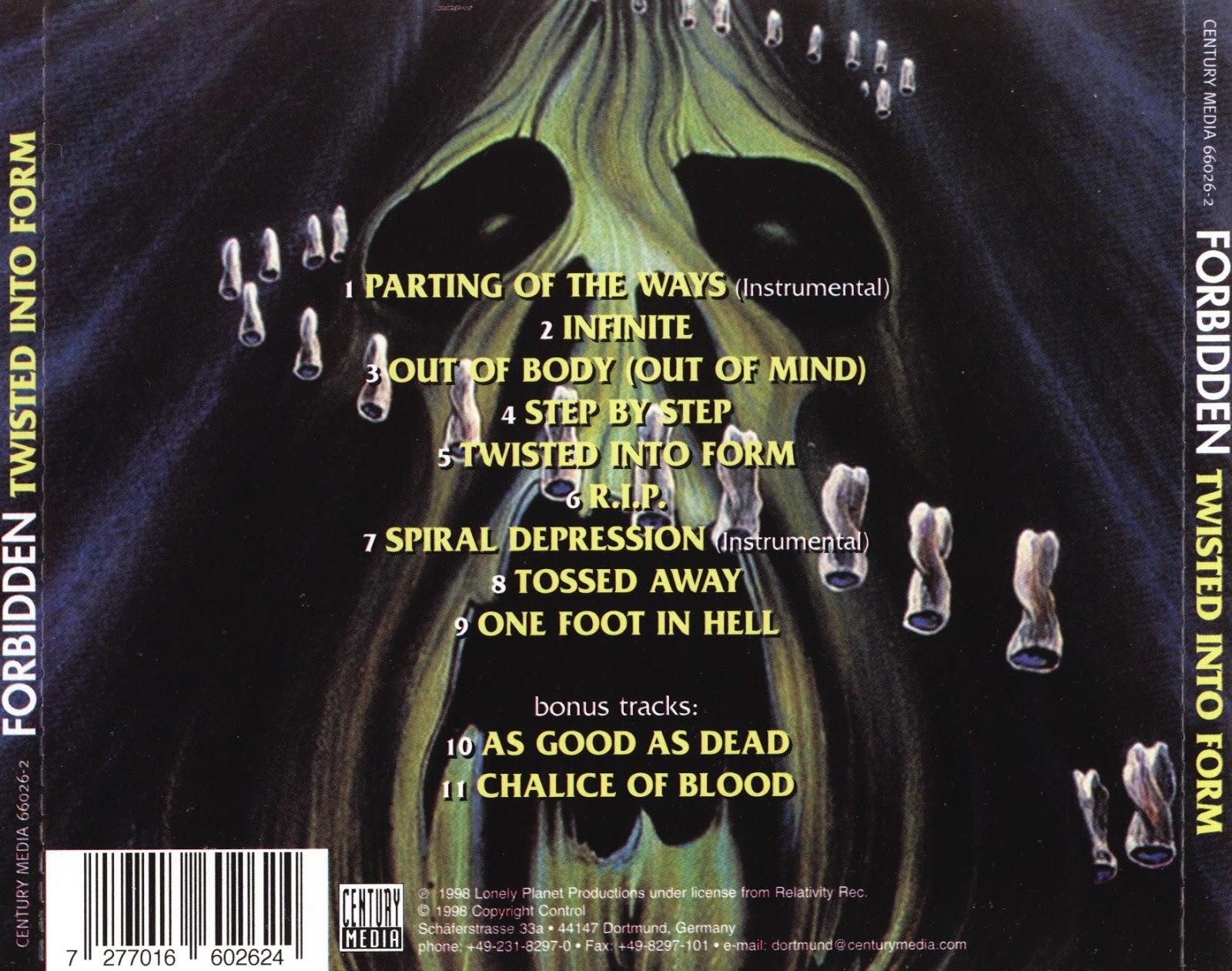 Twisted Into Form by Forbidden (Album, Thrash Metal