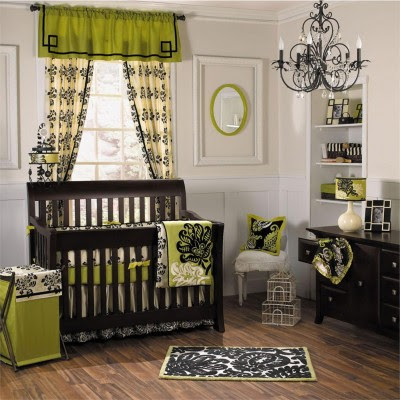 Baby Room Black bedding Decor Ideas