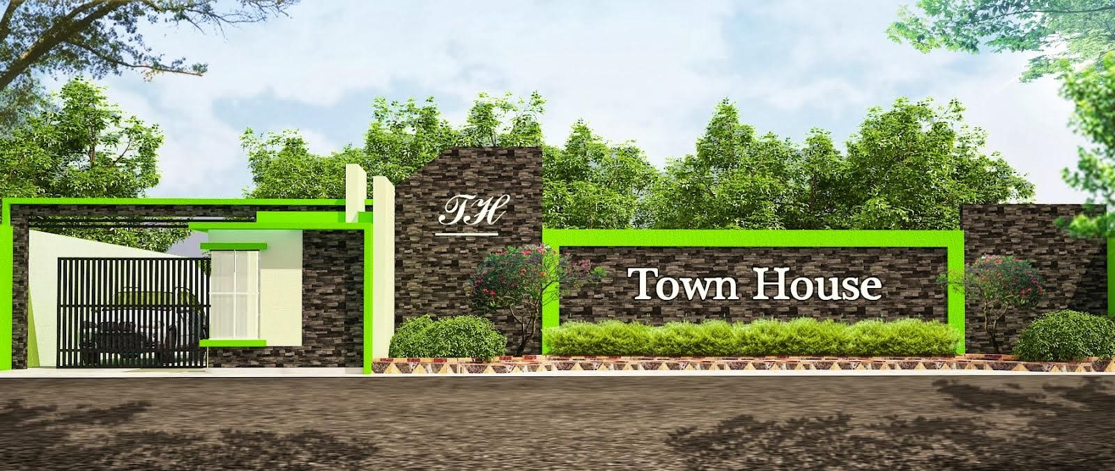 TFQ architects: Gambar Gerbang perumahan townhouse jakarta