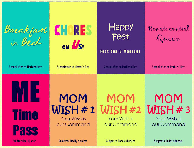 Printable Mom's Day Coupons w/ Disclaimer