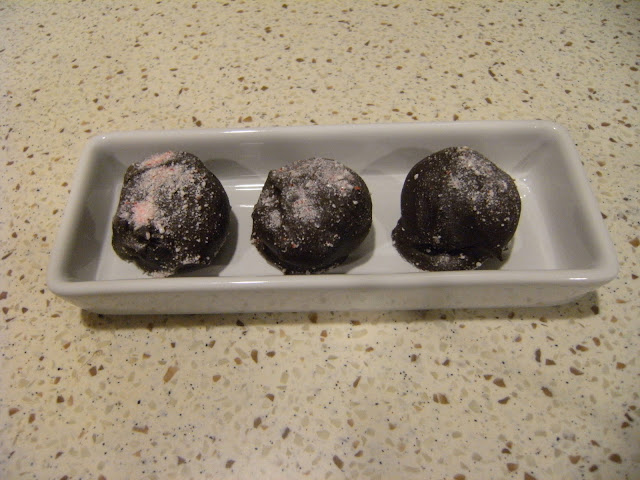 chcocolate mint cake balls