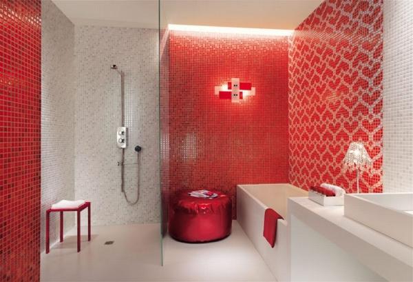 Baño De Color Rojo Fuego:10 Baños color rojo – Colores en Casa