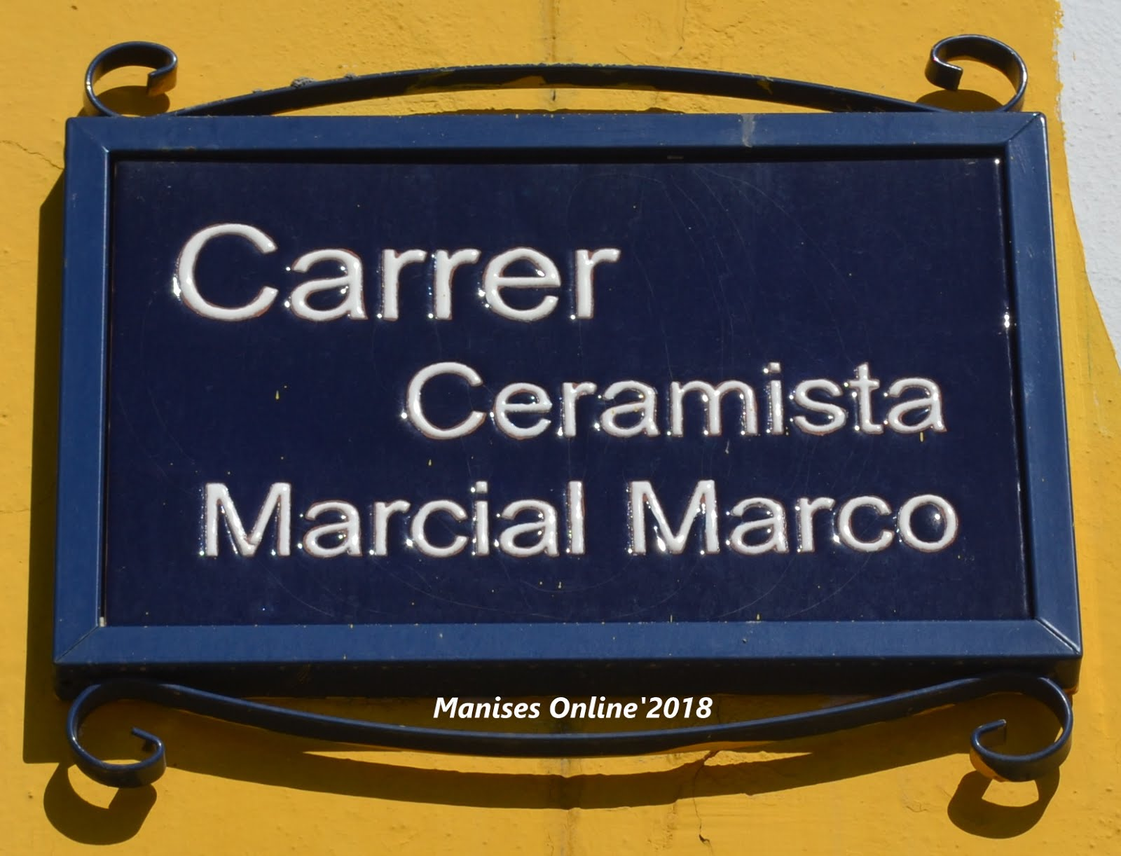 15.02.18 CARRERS-CALLES DE LA CIUDAD DE MANISES: CERAMISTE MARCIAL MARCO