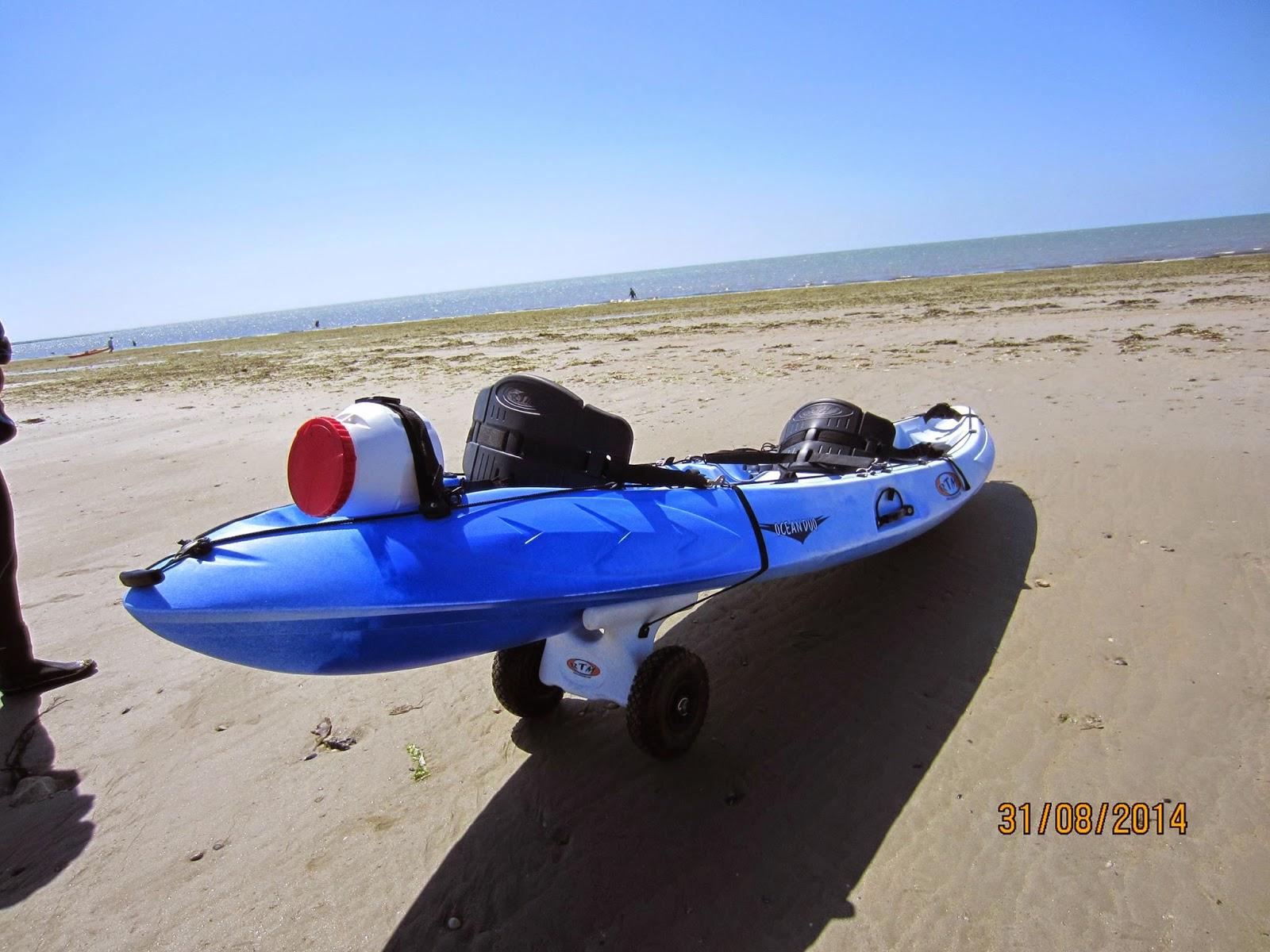 La boite p che noirmoutier kayak paddle - Kayak de mer gonflable ...