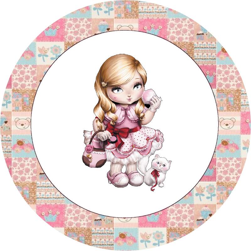 Cupcakes  Tampinhas E Adesivos Boneca Jolie Da Tilibra Marrom E Rosa