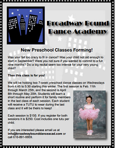 BBDA Preschool Classes