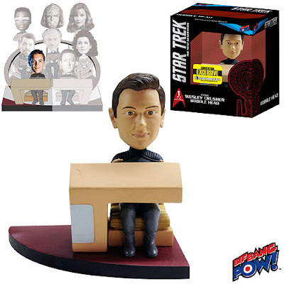 San Diego Comic-Con 2013 Exclusive Star Trek: The Next Generation Wesley Crusher Build-a-Bridge Bobble Head by Bif Bang Pow!