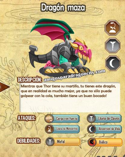 imagen de las caracteristicas del dragon maza