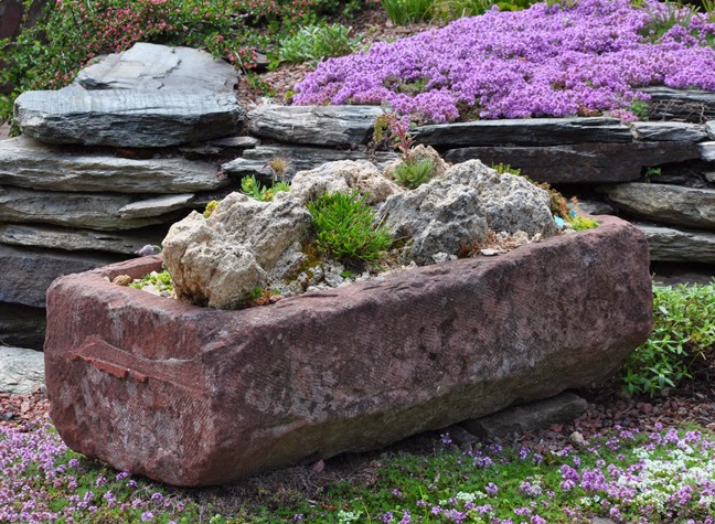 Three dogs in a garden the rock garden part 2 planting for Landscaping rocks by the ton