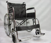 Heavy duty double cross bar wheelchair