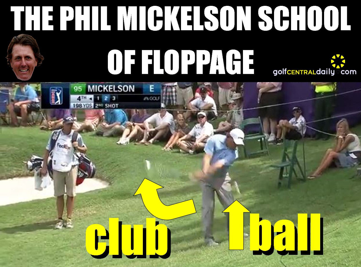 Video Phil Mickelson Reveals Amazing Flop Shot Ahead Of