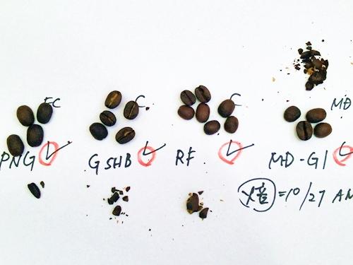 じゃらんコーヒー・実際に焙煎した豆を食べてチェックしています