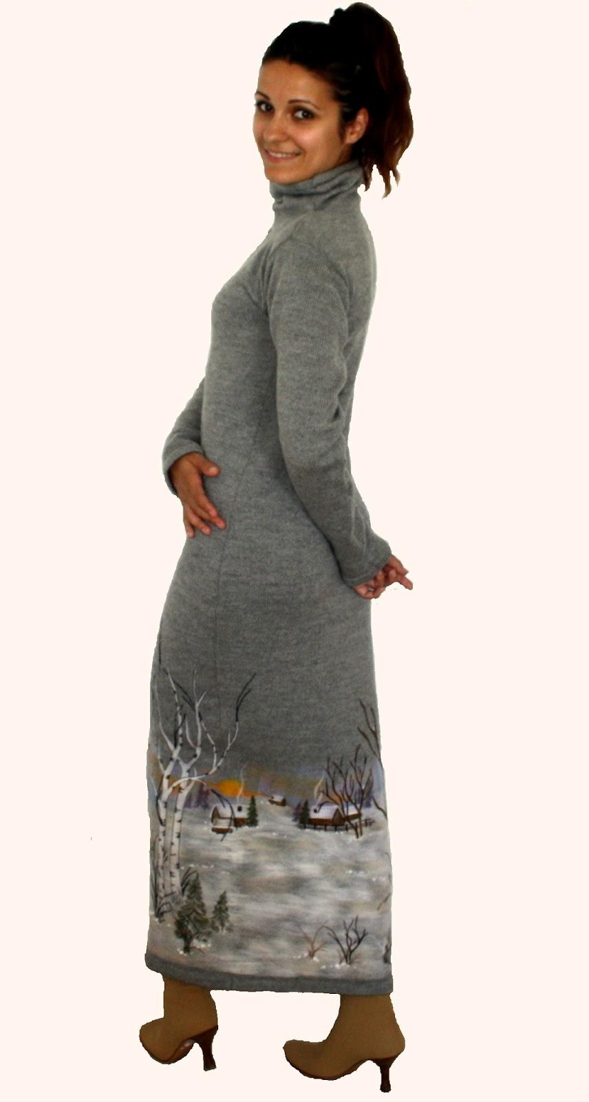 Платья Тёплые Зимние