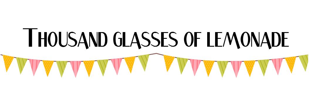 thousand glasses of lemonade