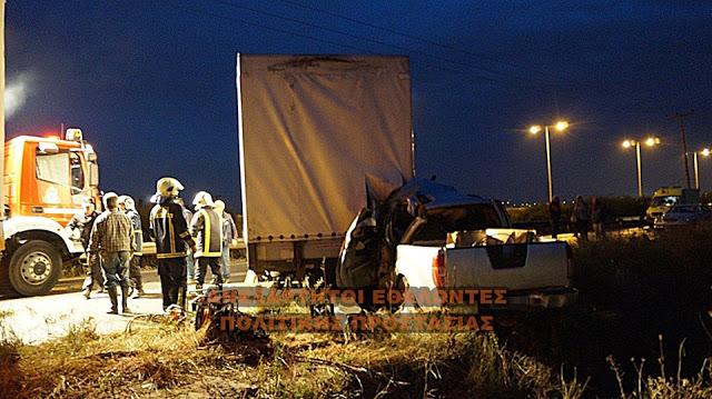 Φρικτό τροχαίο έξω από τη Θεσσαλονίκη : Καρότσα αποσυνδέθηκε από νταλίκα και σκόρπισε τον θάνατο