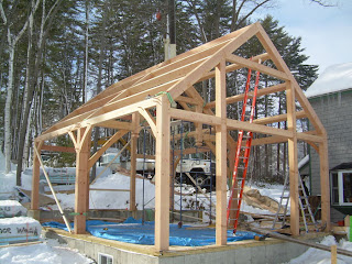 timber frame addition in new hampshire