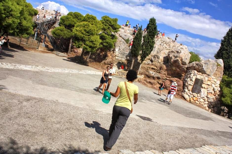 Arios Pagos hill near the Acropolis in Athens