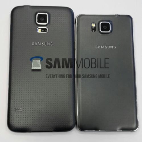 Cover posteriore in finta pelle e scocca in metallo per il Samsung Galaxy Alpha