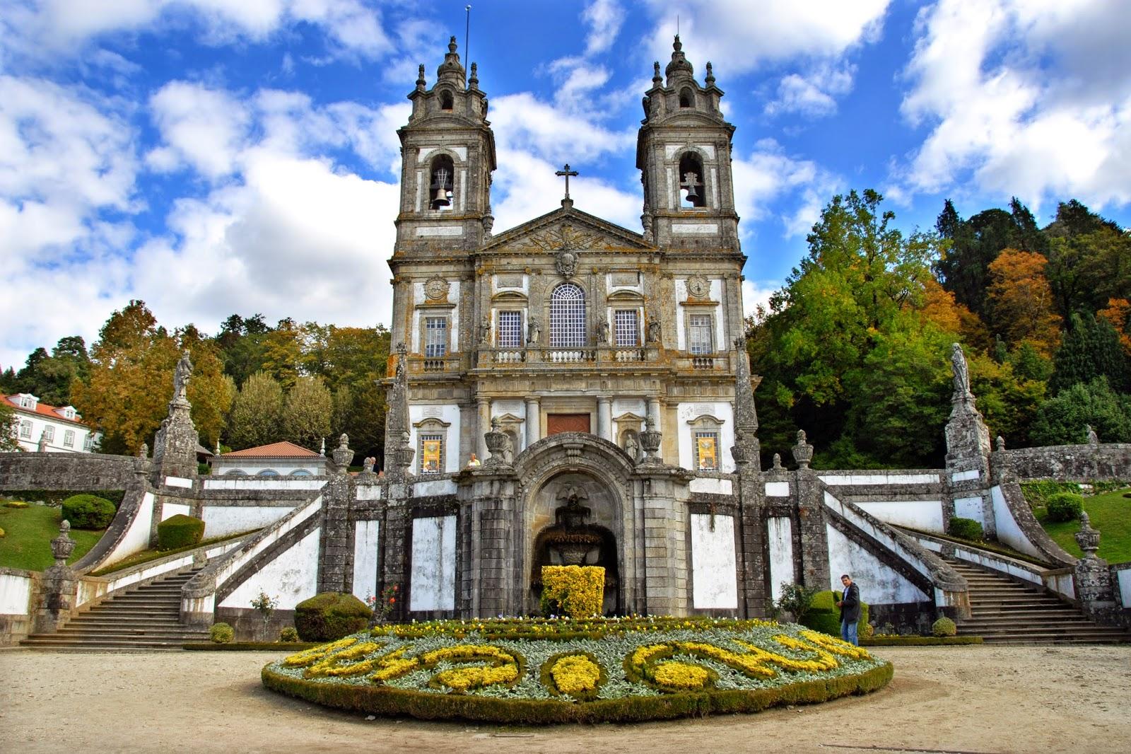 Fachada de la Iglesia del Bom Jesú do Monte