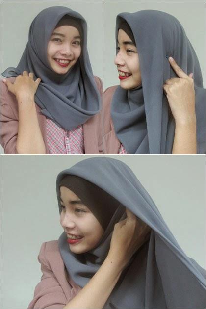 Cara Memakai Hijab Hana