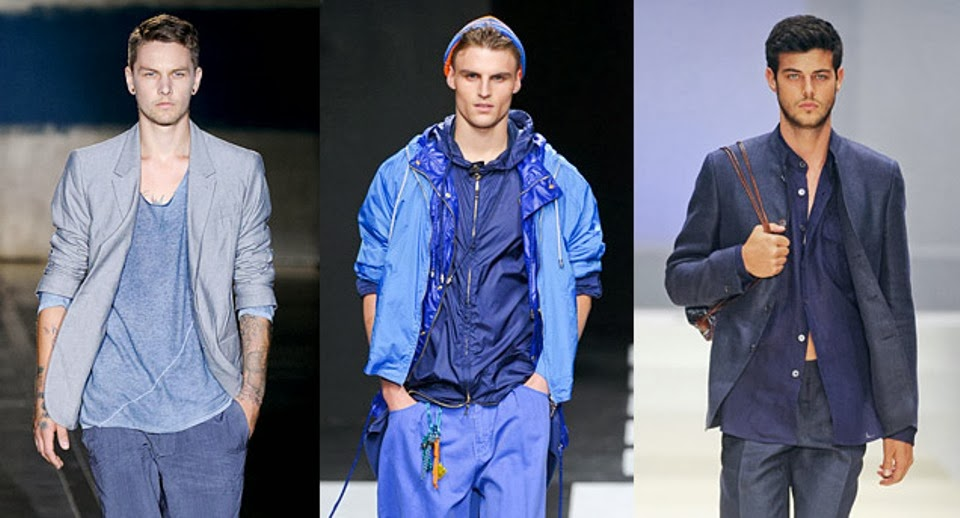 Urban Fashion Men Blue Urban Fashion
