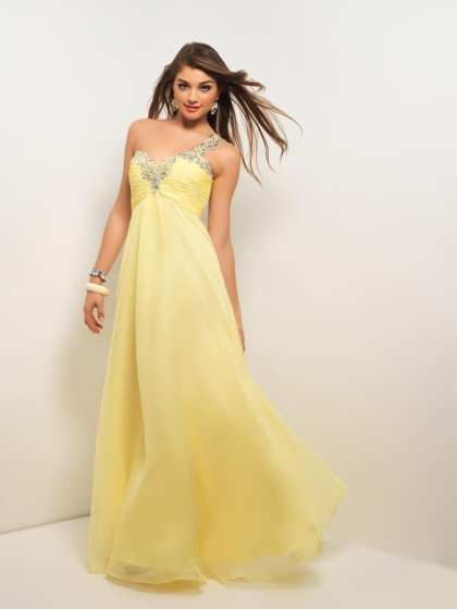 Yellow Bell Prom Dresses 3