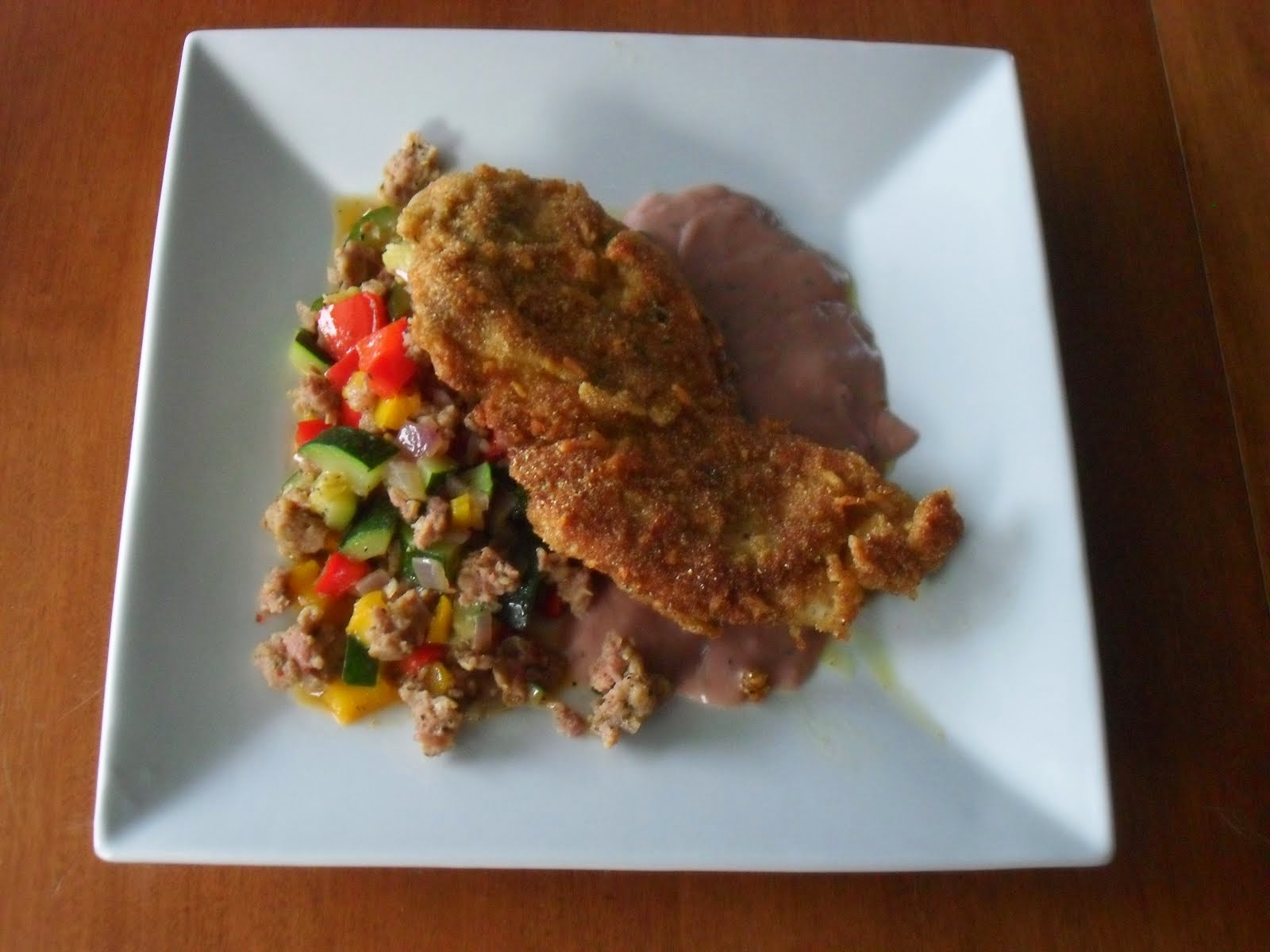 Turkey Cutlets with Sausage & Zucchini and Tipsy Gravy