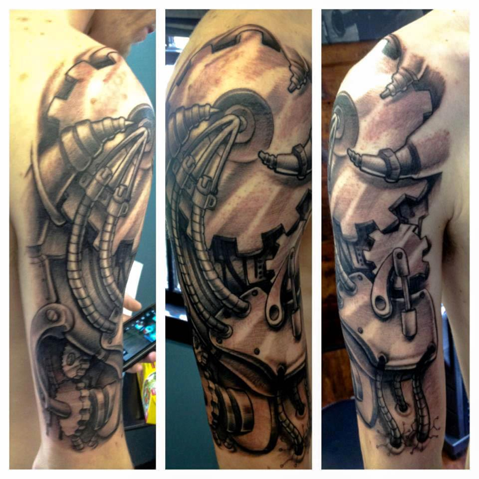 Sleeve tattoos 3d biomechanical sleeve tattoos gallery for Forearm tattoo sleeves