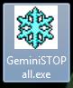 Tắt phần mềm Gemini X8 khi bị treo nhanh nhất