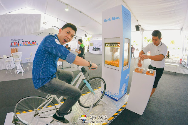 It was really tiring to cycle for almost 3 minutes just to pop the popcorns!!