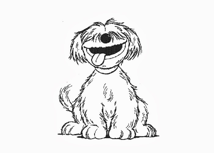 Sesame Street Barkley Coloring Pages