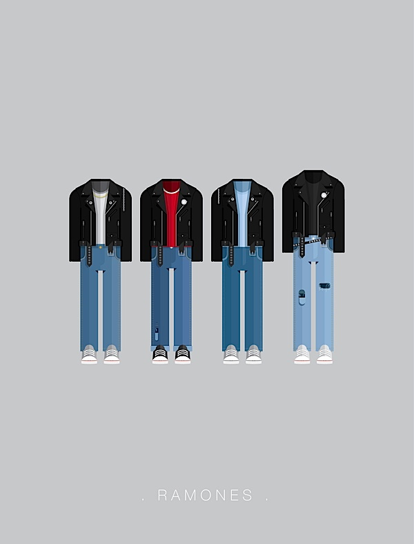 Ramones poster estilo plano