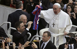 Pope Francis gets a shirt