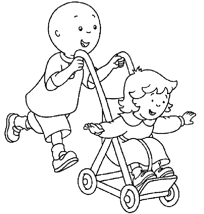Coloring pictures + caillou - a-k-b.info